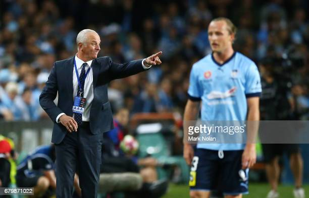 Sydney FC head coach Graham Arnold watches on during the 2017 ALeague Grand Final match between Sydney FC and the Melbourne Victory at Allianz...