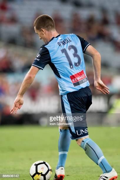 Sydney FC midfielder Brandon O'Neill scores a goal at the Hyundai ALeague match between Western Sydney Wanderers and Sydney FC on December 09 2017