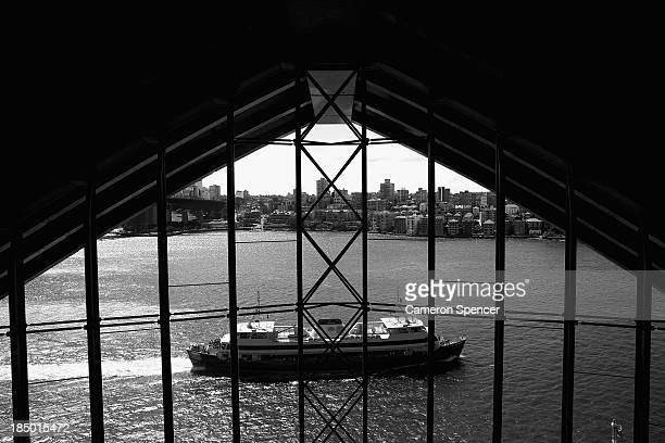 A Sydney Ferry passes by windows of the Sydney Opera House on September 20 2013 in Sydney Australia On October 20 2013 the iconic Sydney Opera House...