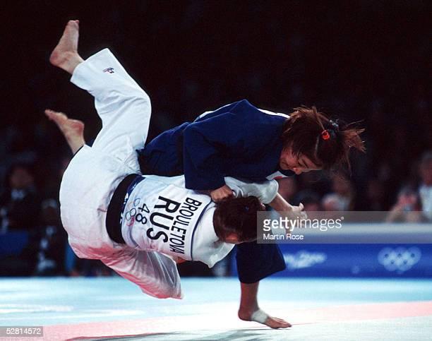 FRAUEN/bis 48 KG Ljubov BROULETOVA/RUS SILBER Ryoko TAMURA of Japan GOLD