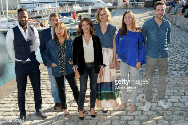 Sydney Gallonde Francois Tron Isabelle Czakja Valerie Karsenti Elodie Frenck Marie Roussin and Alex Beaupain attend the Jury photocall during the...