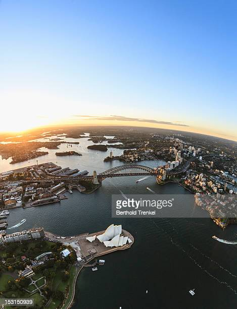Sydney harbor at sunset, New South Wales