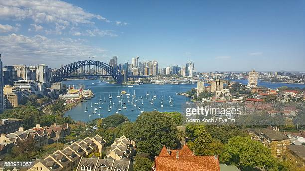 Sydney Harbor Bridge And Buildings In City