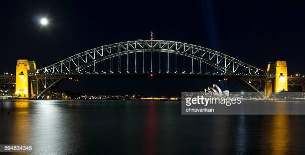 Sydney harbor bridge at night, Australia