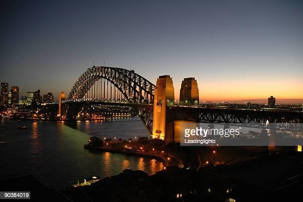 Sydney Harbor Bridge at sunset