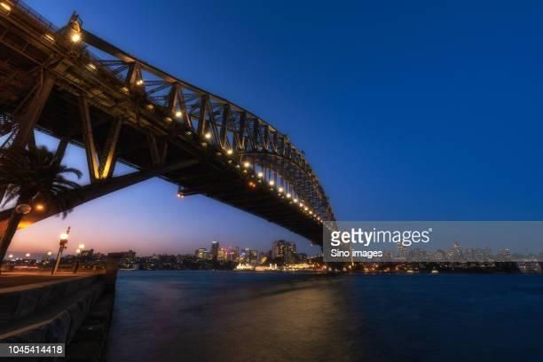 sydney harbor bridge, new south wales, australia - image stock pictures, royalty-free photos & images