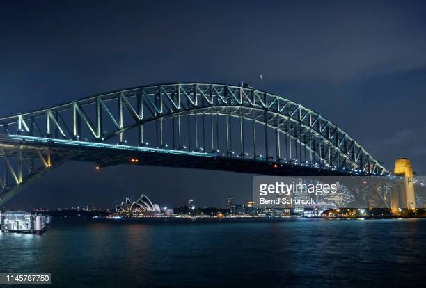sydney harbor bridge - bernd schunack stock pictures, royalty-free photos & images