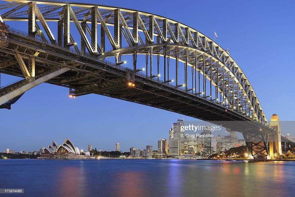 sydney harbor bridge with sydney opera house at dusk picture id171374493 - 17+ Photo Sydney Opera House Harbour Bridge  PNG