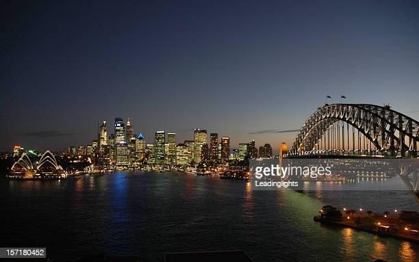 Sydney Harbour Bridge & CBD, Late Evening