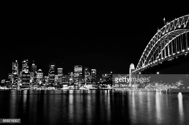 Sydney Harbour Bridge and City Center from Harbour