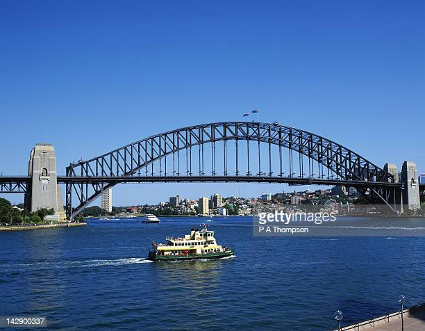 Sydney Harbour Bridge and Ferry, New South Wales, Australia
