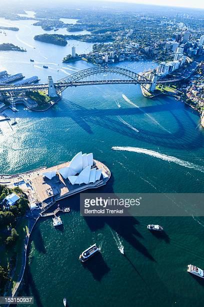 Sydney Harbour Bridge and shadow