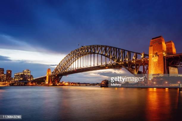 Sydney Harbour Bridge at Twilight Australia