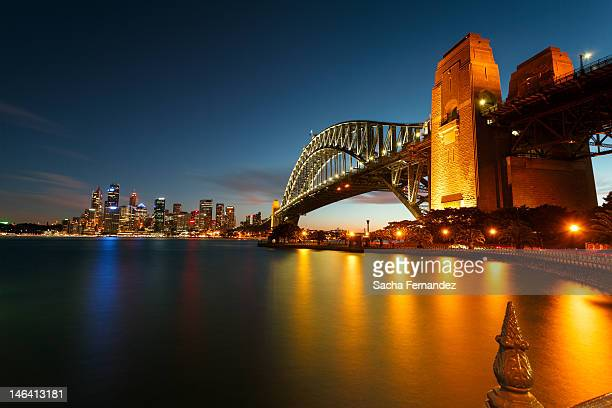 Sydney harbour bridge blue hour
