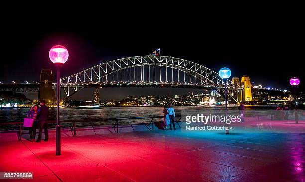 Sydney Harbour Bridge evening view