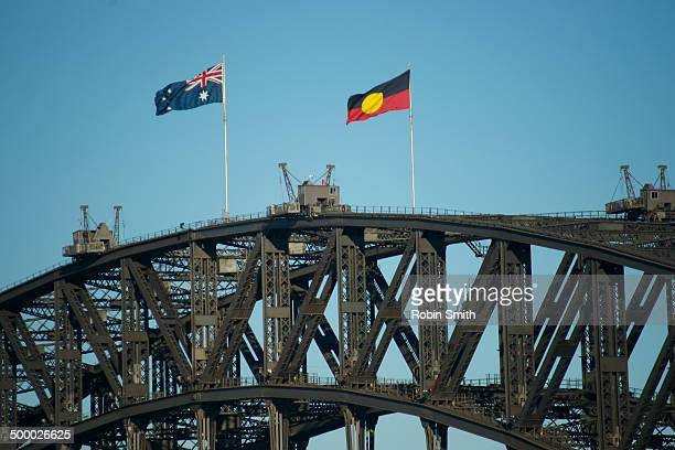 Sydney Harbour Bridge & Flags