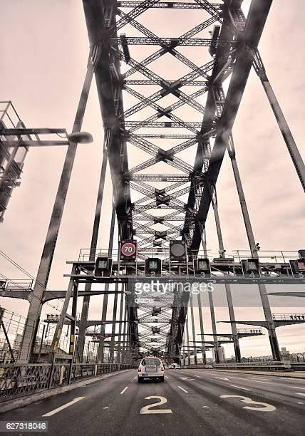 Sydney Harbour bridge in rain