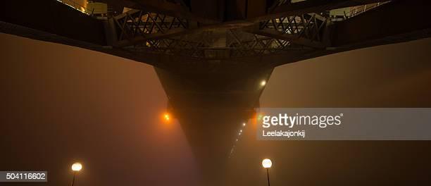 Sydney Harbour bridge in the mist.