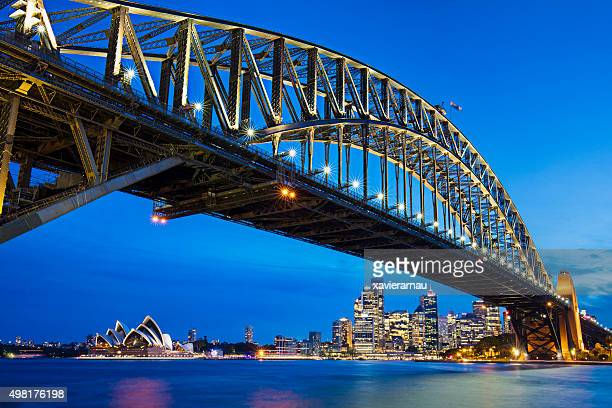 Sydney Harbour Bridge with opera house in the background