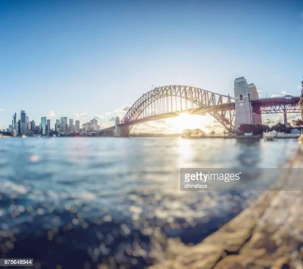 sydney harbour bridge,australia - sydney harbour bridge stock pictures, royalty-free photos & images