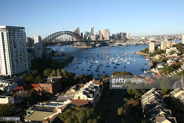 sydney harbour from the north - north stock pictures, royalty-free photos & images