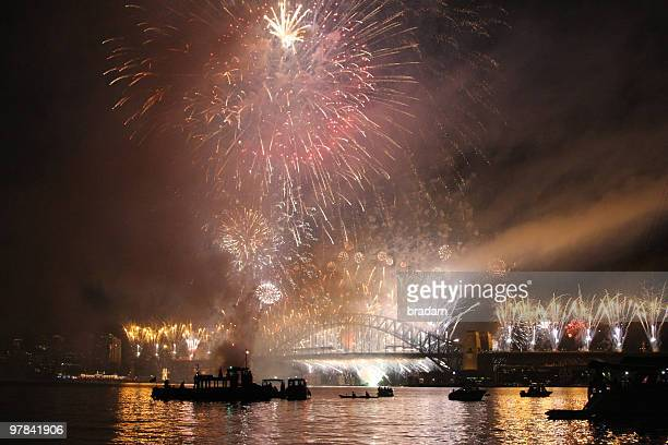 Sydney Harbour on New Years Eve