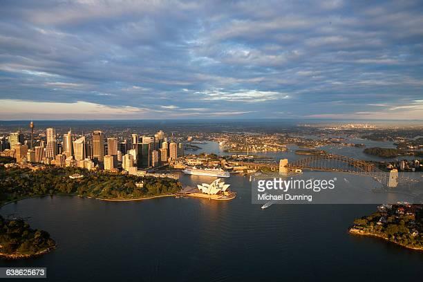 Sydney Harbour with Opera House and Bridge