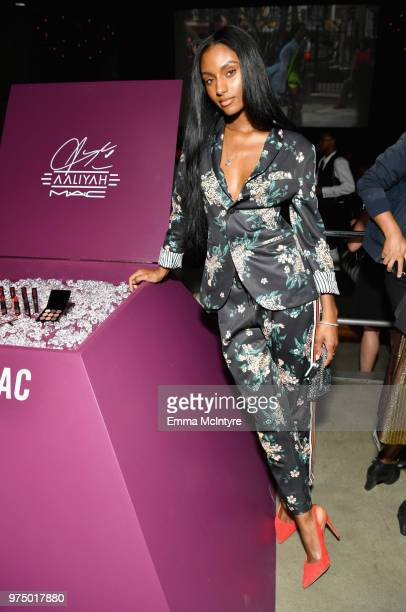 Sydney Harper attends MAC Cosmetics Aaliyah Launch Party on June 14 2018 in Hollywood California