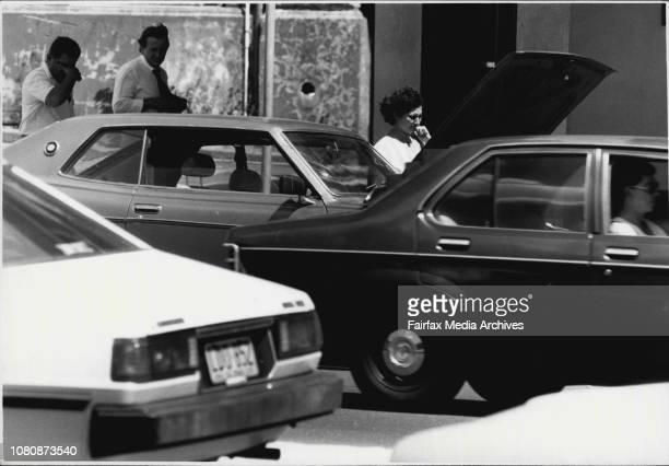 Sydney Heat Car Boilovers in the CityA Datsun in Broadway December 20 1985