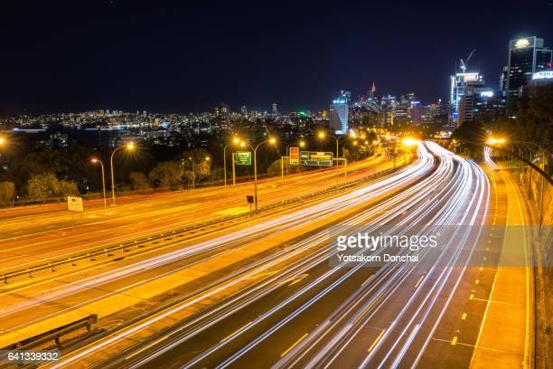 Sydney Highway at Night