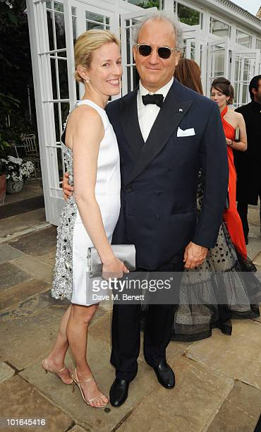 Sydney IngleFinch and Charles Finch attend the Raisa Gorbachev Foundation Party at Stud House Hampton Court Palace on June 5 2010 in Richmond upon...