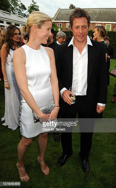 Sydney IngleFinch and Hugh Grant attend the Raisa Gorbachev Foundation Party at Stud House Hampton Court Palace on June 5 2010 in Richmond upon...