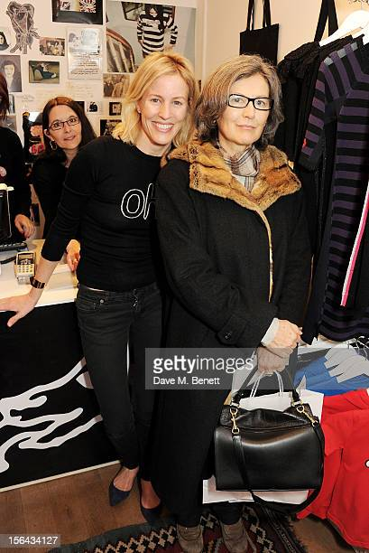 Sydney IngleFinch and Nicoletta Peyran attend the launch of the Bella Freud popup boutique at Bicester Village on November 15 2012 in Bicester England