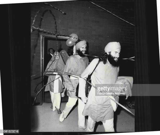 Sydney International Airport Two members of the Ananda marga sect arrived book in Sydney today after being deported from Bangkok They are Timothy...