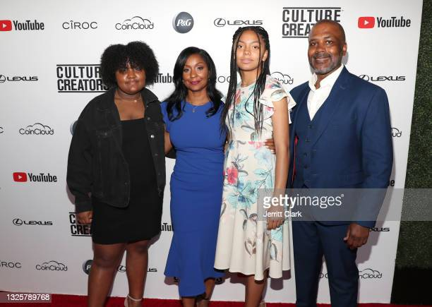 Sydney, Joi Brown, Kennedy and Howard Lindsay attend the Culture Creators Innovators & Leaders Awards at The Beverly Hilton on June 26, 2021 in...