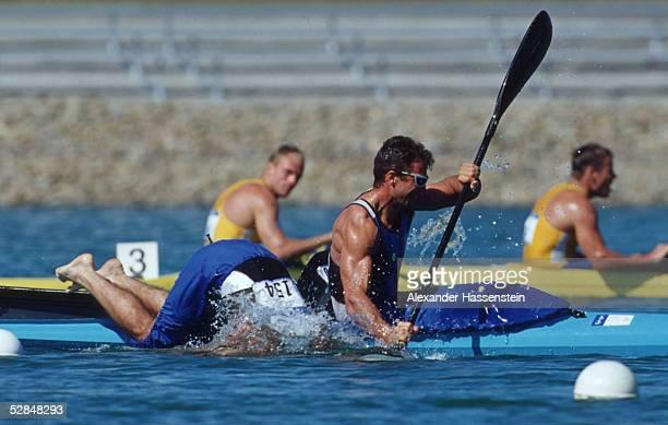 SPIELE 2000 Sydney KANURENNSPORT/KAJAK/K2/1000m/MAENNER Beniamino BONOMI Antonio ROSSI/ITA GOLD