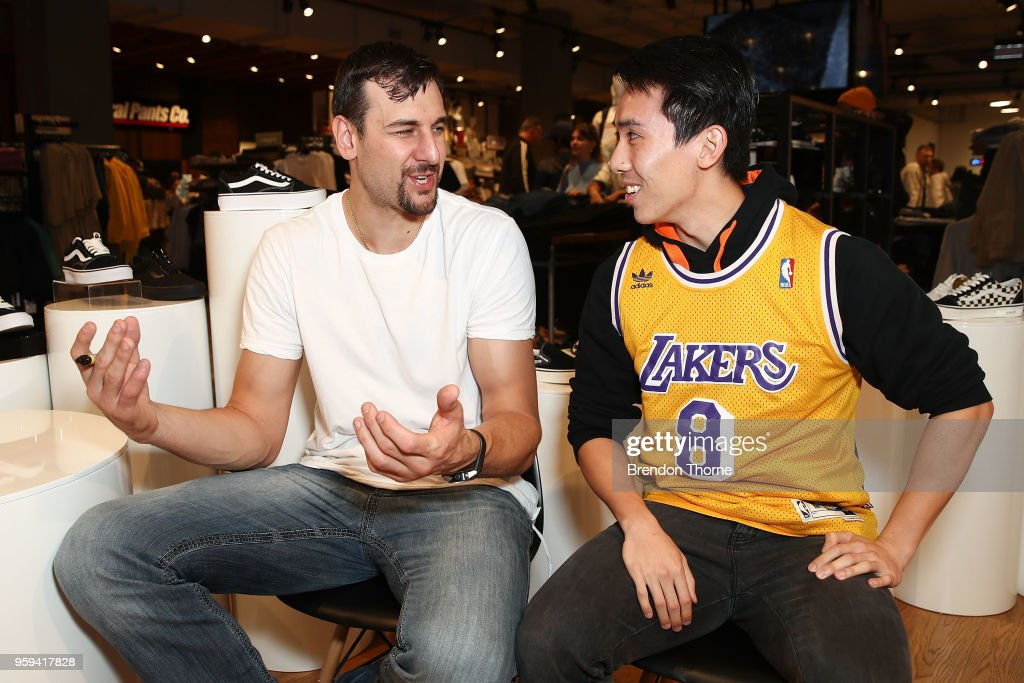 Sydney Kings NBL player and former NBA player Andrew Bogut attends the opening of General Pants Parramatta on May 17, 2018 in Sydney, Australia.