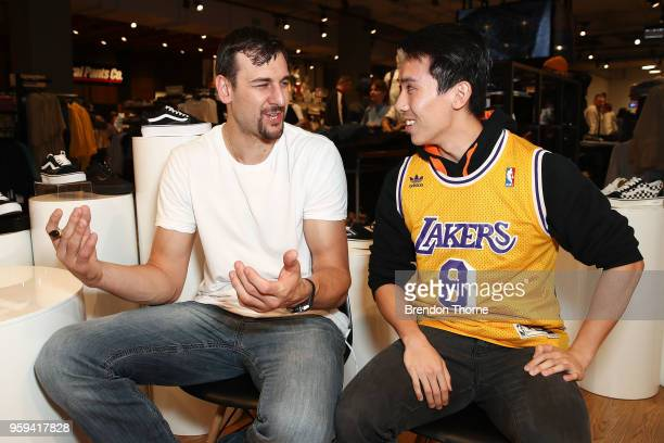 Sydney Kings NBL player and former NBA player Andrew Bogut attends the opening of General Pants Parramatta on May 17 2018 in Sydney Australia