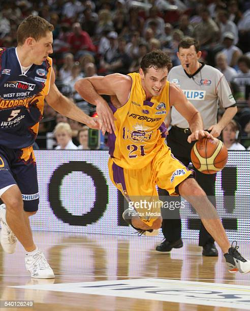 Sydney Kings player Luke Kendall in action against the West Sydney Razorbacks at the Acer Arena Homebush Sydney 9 December 2006 SHD SPORT Picture by...