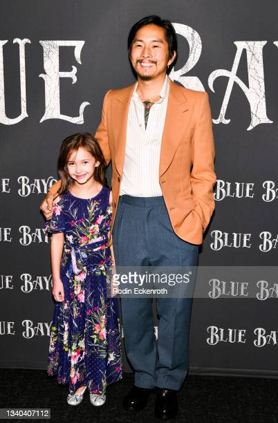 """Sydney Kowalske and Justin Chon attend the Los Angeles Premiere of Focus Features' """"Blue Bayou"""" at DGA Theater Complex on September 14, 2021 in Los..."""