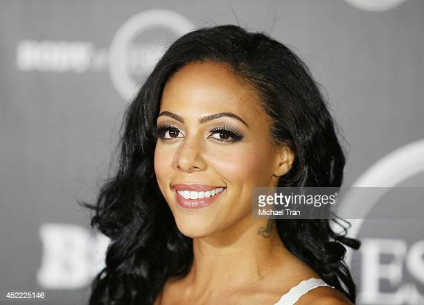 Sydney Leroux arrives at the BODY at ESPYS PreParty held at Lure on July 15 2014 in Hollywood California
