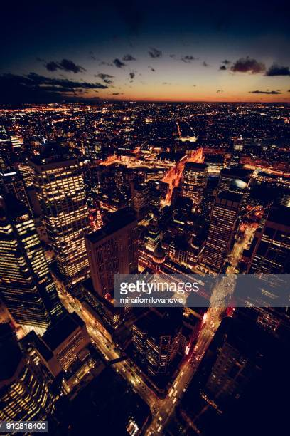 sydney lights - night stock pictures, royalty-free photos & images