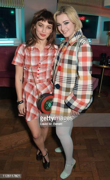 Sydney Lima and Julia CampbellGillies attend the Mulberry Reflections party celebrating London Fashion Week February 2019 and Mulberry's SS19...