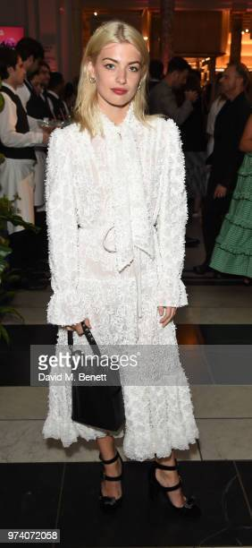 Sydney Lima attends a private view of 'Frida Kahlo Making Her Self Up' at The VA on June 13 2018 in London England