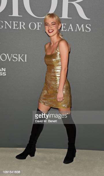 Sydney Lima attends a private view of the 'Christian Dior Designer of Dreams' exhibition at The VA on January 30 2019 in London England