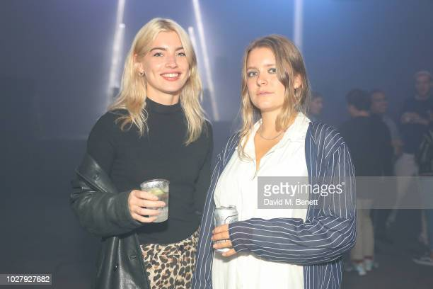 Sydney Lima with guest attends the Axel Arigato launch at Village Underground on September 6 2018 in London England