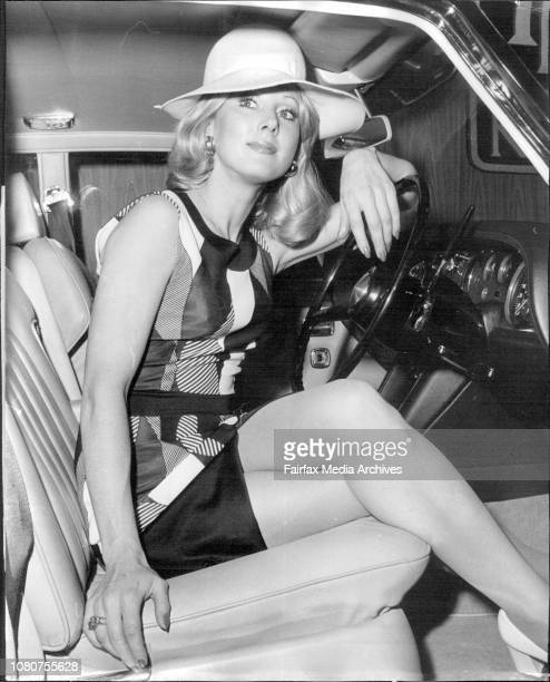 Sydney model Jan Tapp 24 yrs old of the Eastern Suburbs pictured with a $14450 Silver Shadow Rolls Royce at the York Motors stand at the 19th...