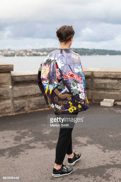 Sydney Morning Herald Journalist Jenna Clarke is wearing a Romance was born jacket Dolce and Gabbana shoes Witchery pants Taylor Swift tshirt and a...