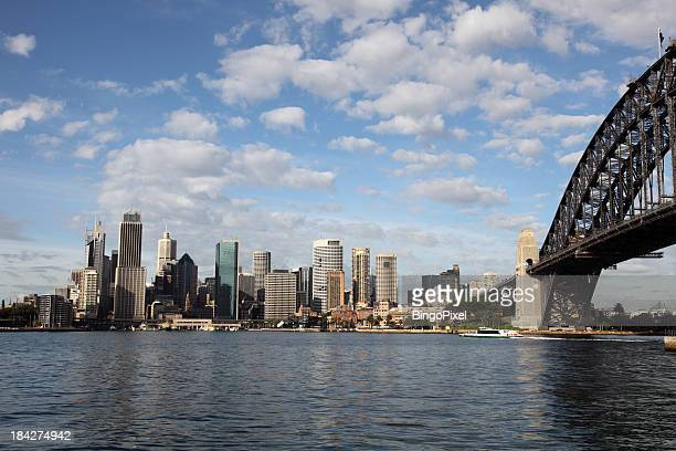 sydney morning panorama - north stock pictures, royalty-free photos & images