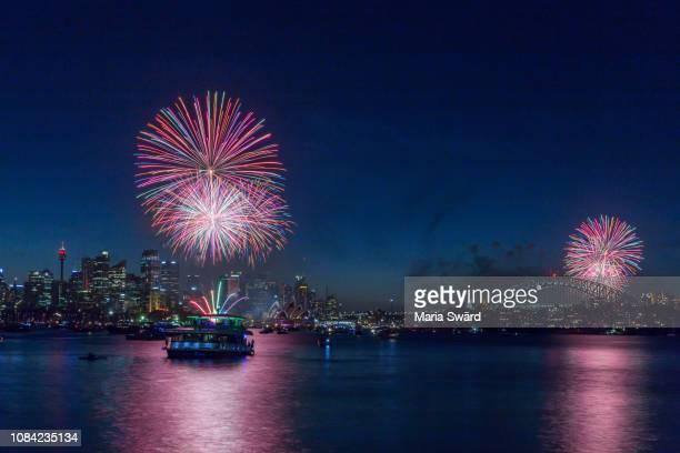 Sydney New Year's Eve Fireworks - Tuttifrutti colours